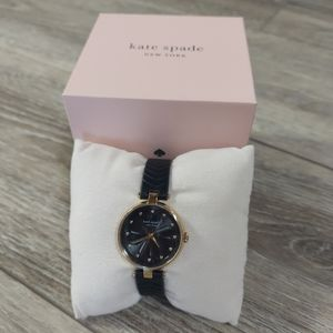 kate spade Annadale Blk Quilted Leather Watch NIB